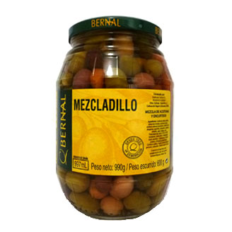 Mezcladillo (Olives, Gherkins, Onion, & Pickles) 990g jar