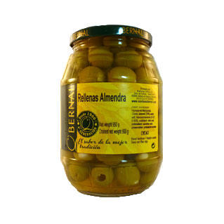 Rellenas Almendra (Almond Stuffed Olives) 600g jar